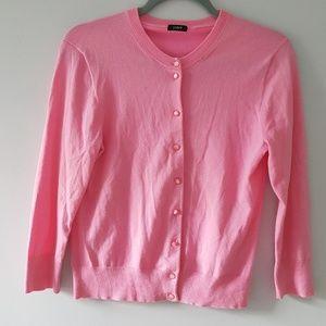 J.Crew Jackie Cardigan Sweater Pink